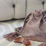 Eyelet & Tassel Tote: Alternate View #2
