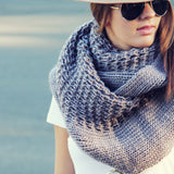 The Fable Knit Scarf in Taupe: Alternate View #2