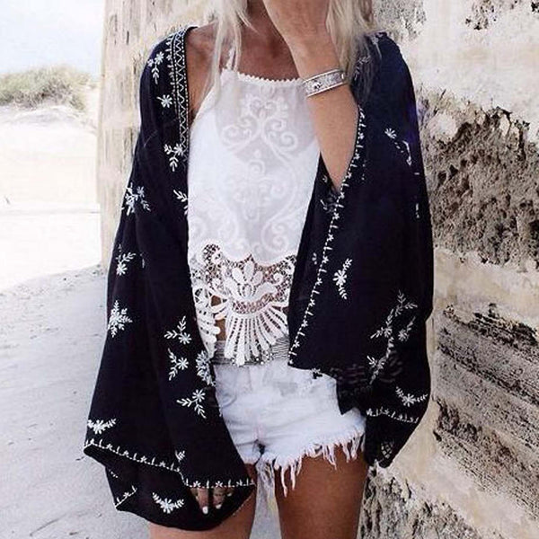 Fable Lace Duster in Black: Featured Product Image