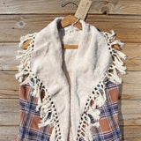 Fable & Plaid Fringe Vest: Alternate View #2