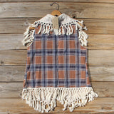Fable & Plaid Fringe Vest: Alternate View #4