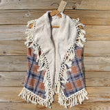 Fable & Plaid Fringe Vest: Alternate View #1