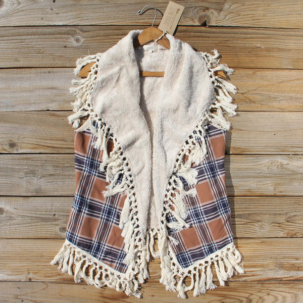 Fable & Plaid Fringe Vest: Featured Product Image