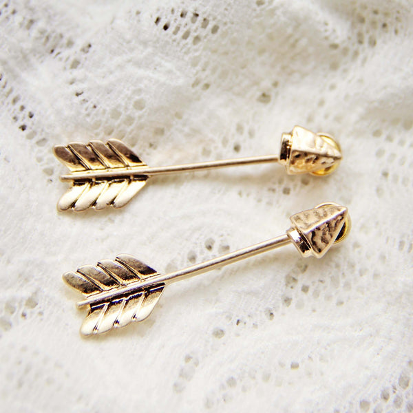 Feather & Arrow Earrings: Featured Product Image