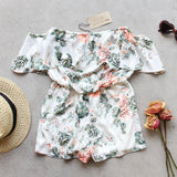 Faded Bloom Romper: Alternate View #2