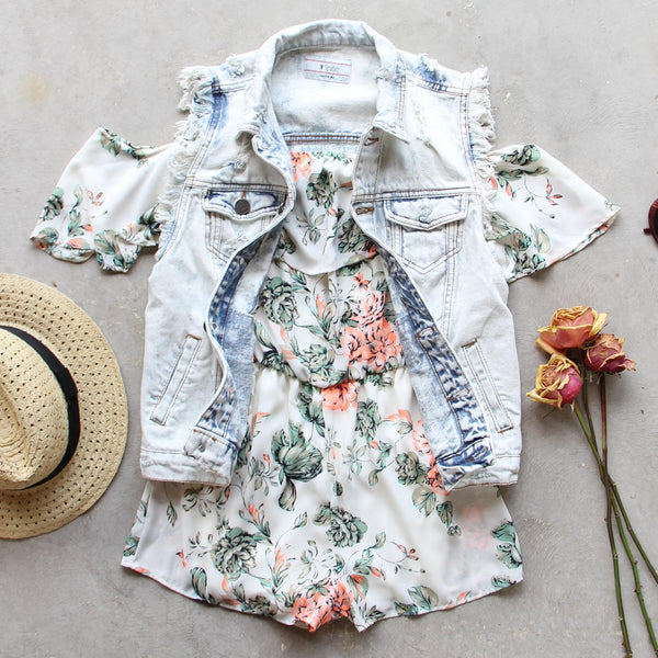 Faded Bloom Romper: Featured Product Image