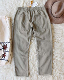 Faded Sage Pants in Dusty Sage: Alternate View #3