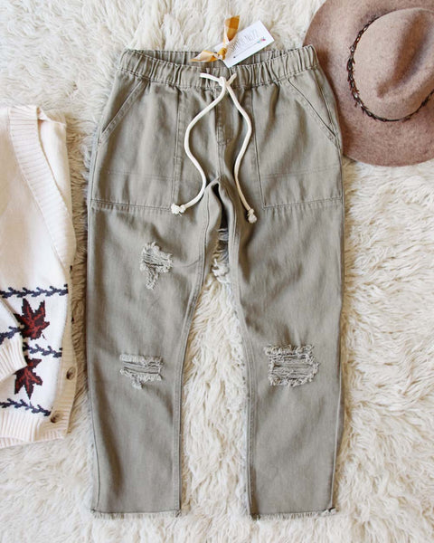 Faded Sage Pants in Dusty Sage: Featured Product Image
