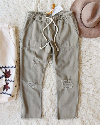 Faded Sage Pants in Dusty Sage