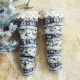Fair Isle Boot Socks: Alternate View #1