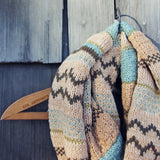 Fair Isle Knit Infinity Scarf: Alternate View #2