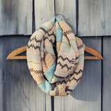 Fair Isle Knit Infinity Scarf: Alternate View #1