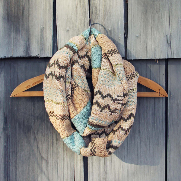 Fair Isle Knit Infinity Scarf: Featured Product Image