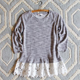 Fall Fable Lace Sweatshirt: Alternate View #3