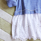 Fall Tale Lace Sweatshirt in Blue: Alternate View #3