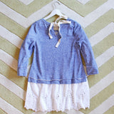 Fall Tale Lace Sweatshirt in Blue: Alternate View #4