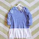 Fall Tale Lace Sweatshirt in Blue: Alternate View #2