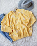 Falling Star Sweater in Daffodil: Alternate View #1