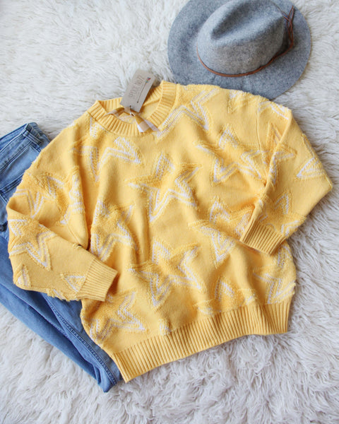 Falling Star Sweater in Daffodil: Featured Product Image