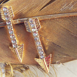 Feather Arrow Earrings: Alternate View #2