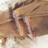 Feather Arrow Earrings: Alternate View #1