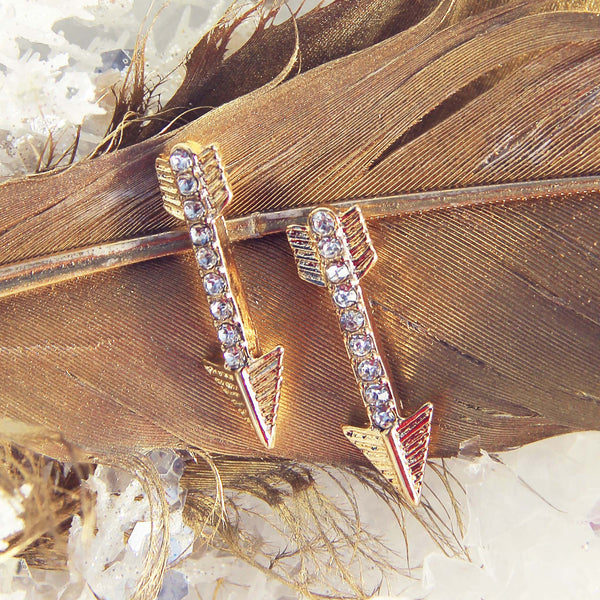 Feather Arrow Earrings: Featured Product Image
