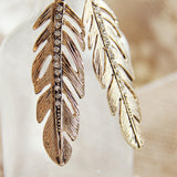 Feathered Sky Earrings: Alternate View #2