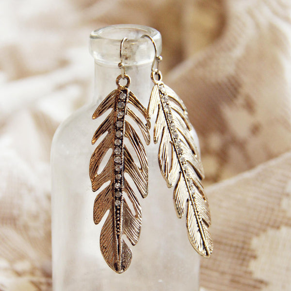 Feathered Sky Earrings: Featured Product Image