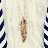 Feather Dust Necklace: Alternate View #1