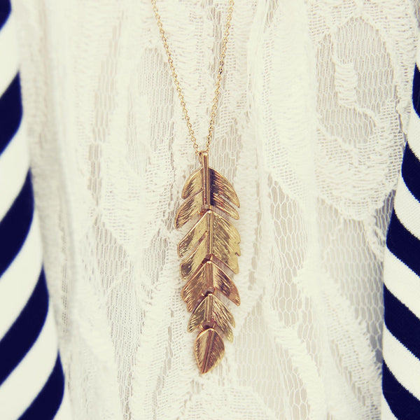 Feather Dust Necklace: Featured Product Image