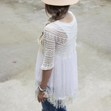 Feather Grass Tunic in White: Alternate View #3