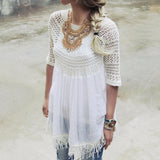 Feather Grass Tunic in White: Alternate View #2