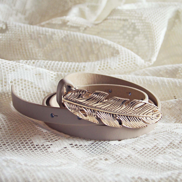 Feather Tale Belt in Sand: Featured Product Image