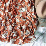 Femme Rust Maxi Dress: Alternate View #3