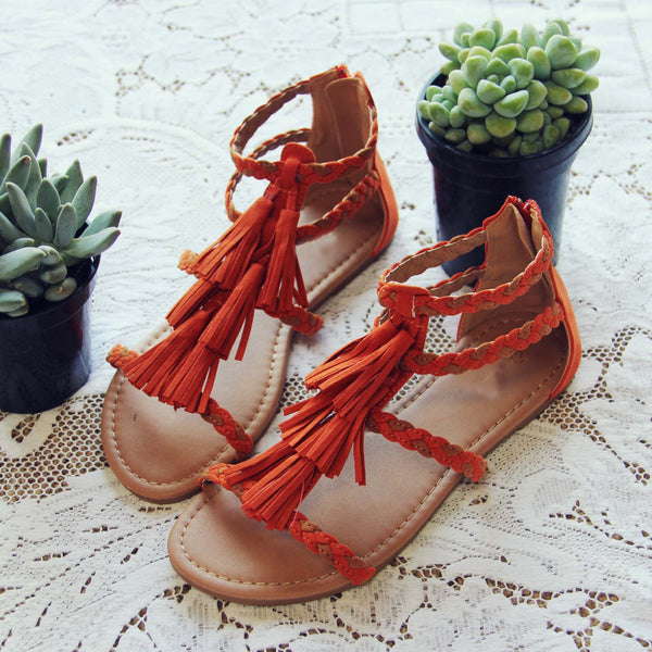 Fescue Fringe Sandals: Featured Product Image