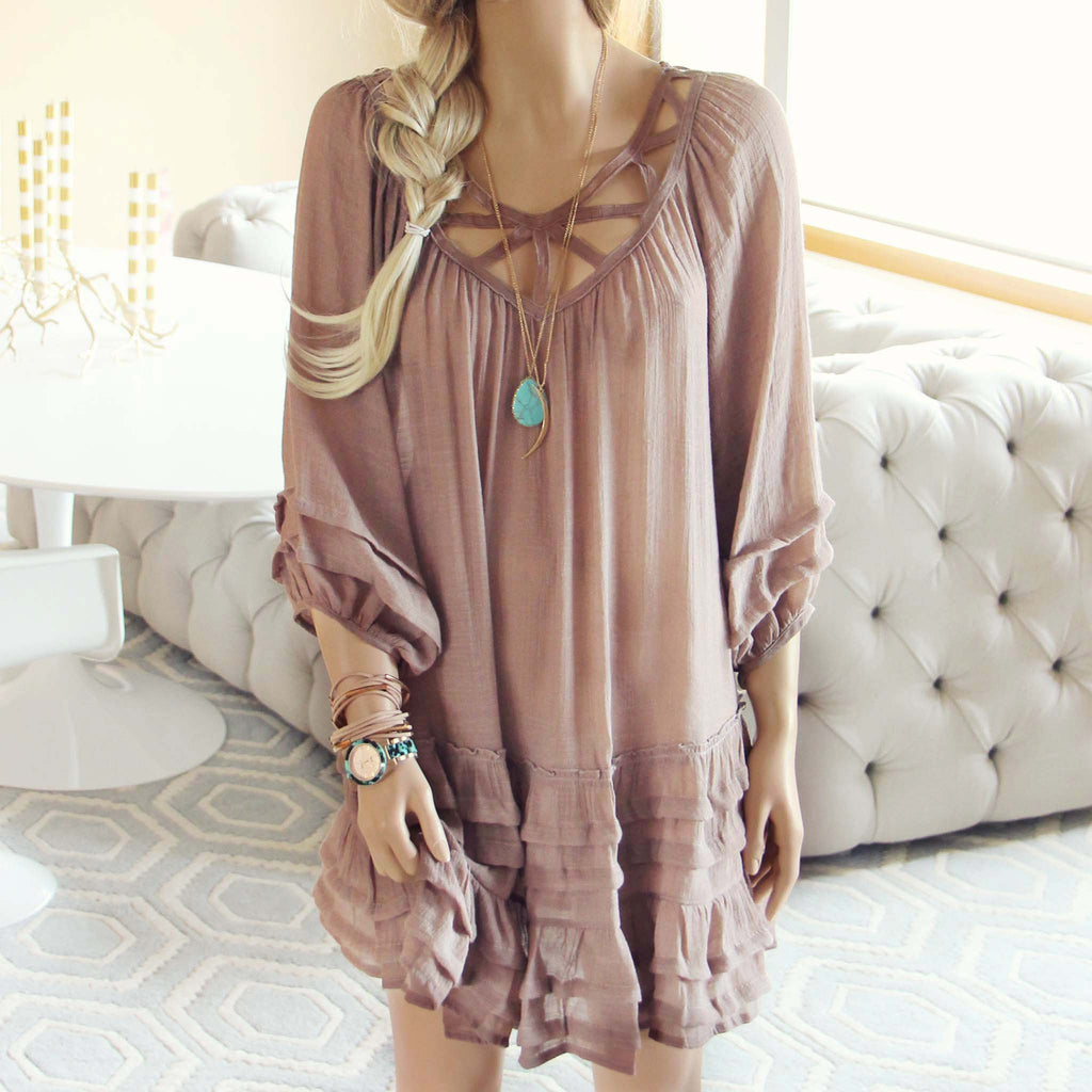 Festival Dress In Sand Women 39 S Bohemian Dresses From