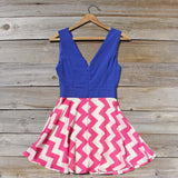 Firecracker Chevron Dress in Blue: Alternate View #4