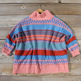 Fireside Autumn Knit Sweater in Pink: Alternate View #4