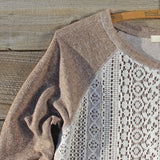 Fireside Nights Lace Sweatshirt: Alternate View #2