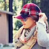 The Fireside Plaid Hat: Alternate View #2
