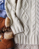 Northwest Fisherman's Sweater in Cream: Alternate View #4