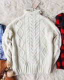 Northwest Fisherman's Sweater in Cream: Alternate View #5