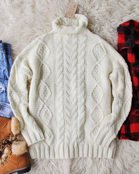 Northwest Fisherman's Sweater in Cream: Featured Product Image