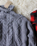 Northwest Fisherman's Sweater in Gray: Alternate View #3