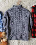 Northwest Fisherman's Sweater in Gray: Alternate View #5