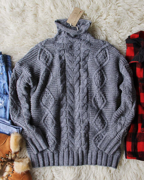 Northwest Fisherman's Sweater in Gray: Featured Product Image