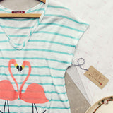 Flamingo Love Tee: Alternate View #2