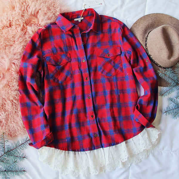 Flannel & Lace Top: Featured Product Image