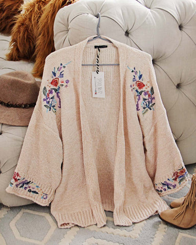 Flora Valley Sweater in Cream