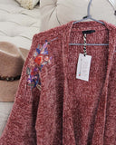 Flora Valley Sweater in Mauve: Alternate View #2